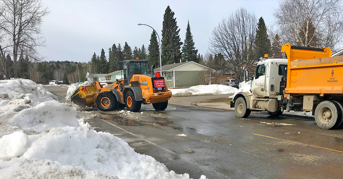 City crews remove windrows to prepare for spring street sweeping. Delaying windrow removal would push sweeping operations later into the year and affect air quality.