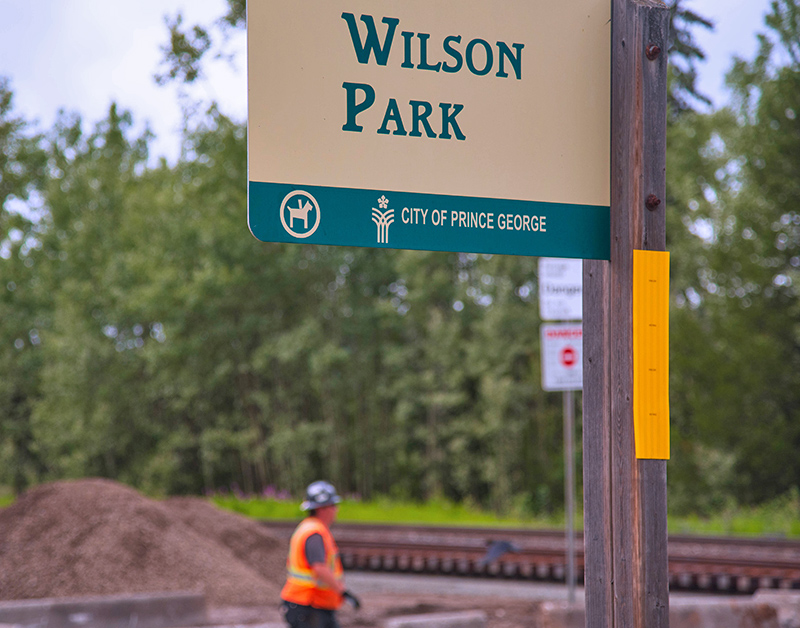 Starting July 22, Wilson Park will be temporarily closed to accommodate the twinning of the CN rail line.