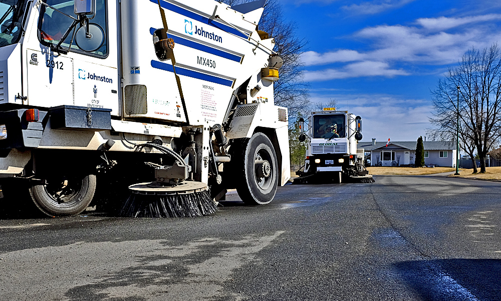 Spring sweeping and painting in store for city roads