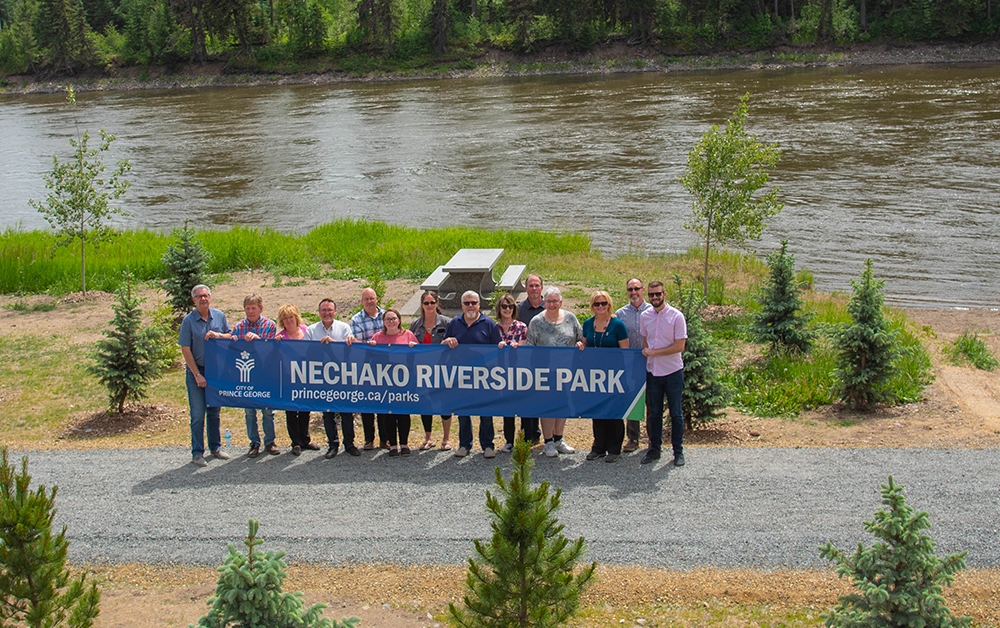 Nechako Riverside Park, the City's newest park, officially opened today.